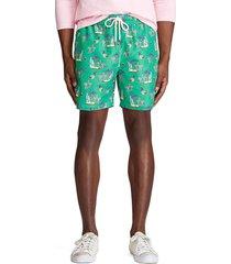 pantaloneta verde-multicolor polo ralph lauren