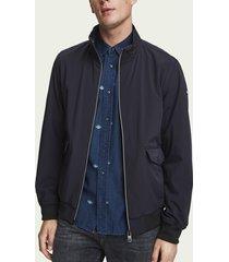 scotch & soda nylon harrington jacket