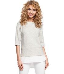 blouse style s132 mouwloze top met ruches - marineblauw