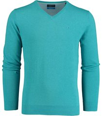 bos bright blue pullover turquoise v-hals 20105vi01bo/242 turquoise