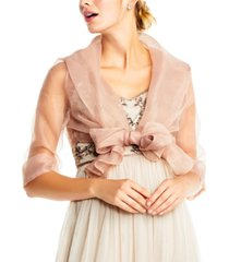 adrianna papell organza wrap jacket