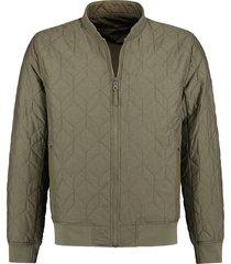 jas reversible bomber jacket army groen (101218 - 511)