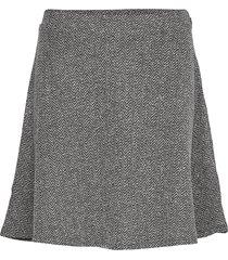 v-f/f skirt - tweed kort kjol grå gap