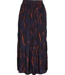 kaemmelie maxi skirt lång kjol blå kaffe