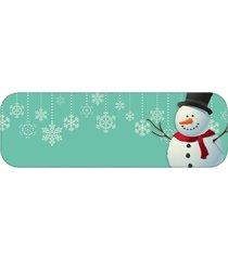 passadeira boneco de neve único love decor