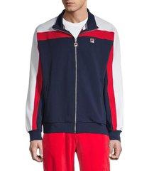 fila men's colorblock track jacket - blue - size xxl