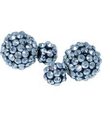 aretes plateados de bolas  topo  ar-10961