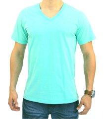 camiseta pau a pique masculina verde agua