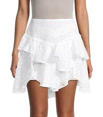 iro women's tale lace asymmetric-tiered skirt - white - size 34 (2)