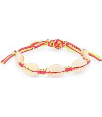 mini shell two-tone pull-tie bracelet