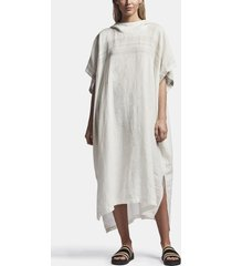 linen hooded tunic poncho