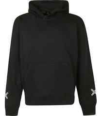 kenzo cross logo sleeve detail hoodie