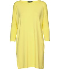 t-shirt kort klänning gul ilse jacobsen