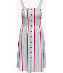 tommy hilfiger women's essential sleeveless stripe dress cashmere blue/ red stripe - xs