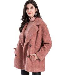 abrigo teddy rosa nicopoly