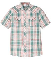 camicia a maniche corte sostenibile in lino e tencel ™ (bianco) - john baner jeanswear