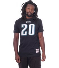 camiseta mitchell & ness bã¡sica philadelphia eagles preta - preto - masculino - dafiti