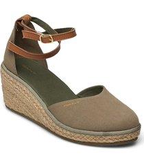 wedgeville wedge san sandalette med klack espadrilles grön gant