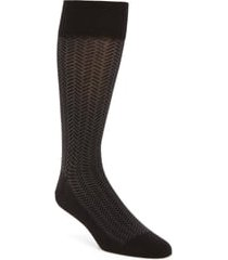 men's cole haan geometric dress socks, size one size - black