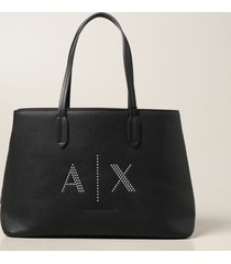 armani collezioni armani exchange tote bags armani exchange shoulder bag in synthetic textured leather