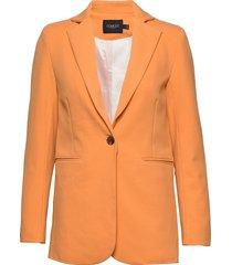 slribea blazer ls blazer kavaj orange soaked in luxury