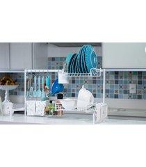cozinha suspensa modular autosustentável escorredor 20 peças dicarlo branco