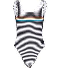 stripe logo deep u-back 1p baddräkt badkläder multi/mönstrad speedo