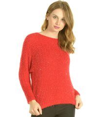 sweater brillo rojo bou's