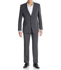 regular-fit melange wool-blend suit