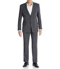 regular-fit melange wool-blend suit