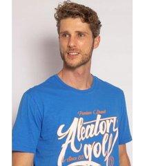 camiseta aleatory estampada fluorescent masculina - masculino