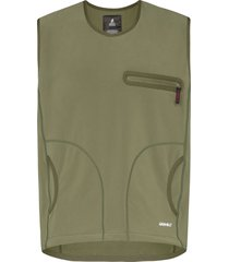 gramicci storm fleece sweater vest - green