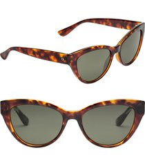 electric indio 58mm polarized cat eye sunglasses in gloss tort/grey at nordstrom