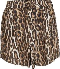 r13 leopard printed shorts