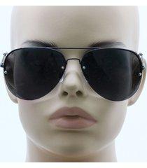 metal rimless gradient oceanic lenses celebrity aviator mens womens sunglasses