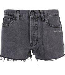 off-white shorts denim