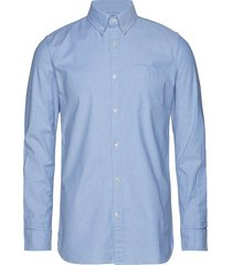 elder ls oxford shirt - gots/vegan overhemd business blauw knowledge cotton apparel