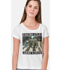 camiseta the beatles abbey road capa feminina