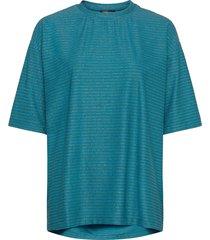 boris, 850 glitter jersey t-shirts & tops short-sleeved blauw stine goya