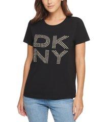 dkny stud logo t-shirt