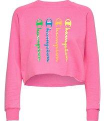 crewneck sweatshirt sweat-shirt tröja rosa champion