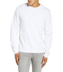 men's frame quilted back panel t-shirt, size small - white