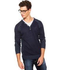 suéter officina do tricô azul.
