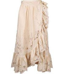 zimmermann brighton scallop wrap skirt