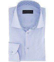 overhemd john miller tailored fit blauwe streep