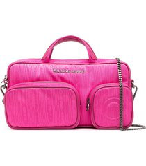 marine serre tie-dye print crossbody bag - pink