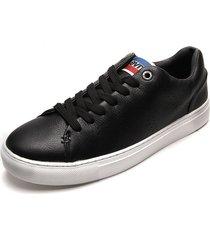 tenis negro-blanco levi's vernon sportswear