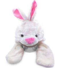 touca thata esportes pelúcia gorro cachecol animais bichinho cosplay fantasia infantil protetor de mão coelho - kanui