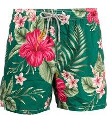mc2 saint barth hibiscus print swim shorts - green