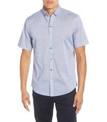 men's zachary prell edelman regular fit short sleeve button-down sport shirt